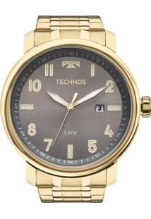 f7ffe7aa018 E Clock. Relógio Analógico Masculino Dourado Technos ...