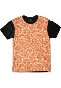 Camiseta Bsc Arabesco Sublimada Preto/Laranja