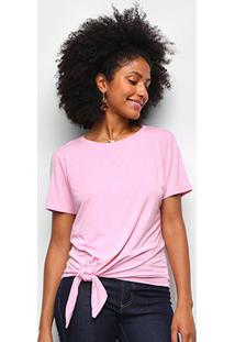 Camiseta Dooplex Amarração Feminina - Feminino-Rosa Claro