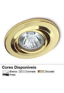 Spot De Embutir Direcionavel Dicróica - 220V - Dourado - Startec