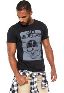 Camiseta Fiveblu Estampa Preta