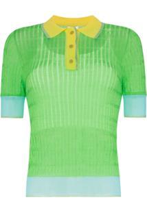 95b11c54b7643 Camisa Pólo Azul Nylon feminina