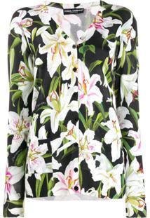 Dolce & Gabbana Cardigan Com Estampa Floral - Verde