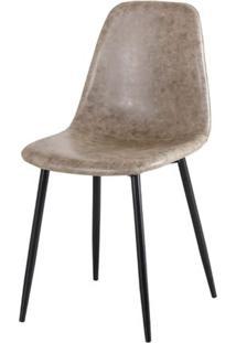 Cadeira Jacob Pu Cinza Com Pes Palito Cor Preto - 44987 Sun House
