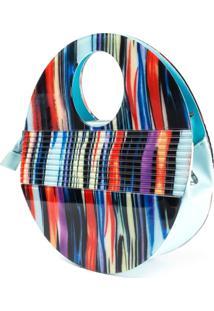 Bolsa De AcrãLico Isla Galerias Oval Colorida - Azul/Multicolorido - Feminino - Dafiti