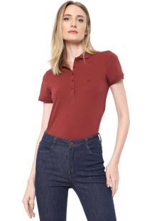 Camisa Polo Dudalina Lisa Vinho