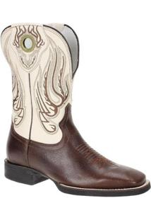Bota Couro Western West Country Masculina - Masculino-Marrom