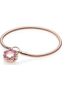 Bracelete Crie & Combine Rose™ Contos Reais (Fecho Cadeado)