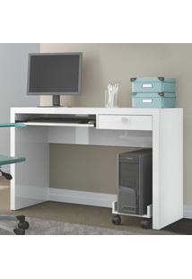 Mesa Para Computador Tc122 Bb Branco Brilho - Dalla Costa