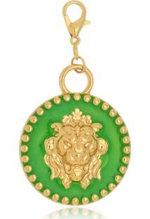 Pingente Le Diamond Medalha De Leã£O Verde - Verde - Feminino - Dafiti