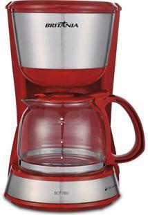 Cafeteira Inox PlusVermelho Britânia 220V Bcf18Iv