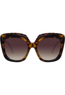 Linda Farrow Óculos De Sol Oversized '556 C3' - Marrom