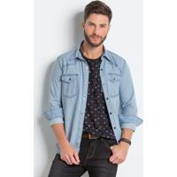 Camisa Jeans masculina  154007ab38b79