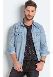 Camisa Jeans Claro