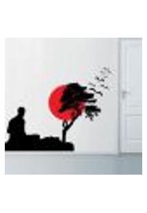 Adesivo De Parede Homem Meditando - G 80X106Cm