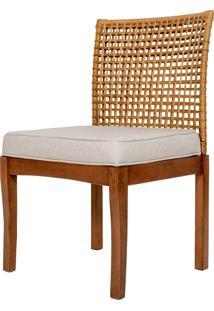 Cadeira Asmara De Rattan Sem Braço