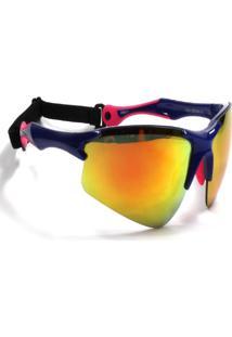 Óculos De Sol Jf Sun Bold-Azul/Rosa - Laranja Espelhado