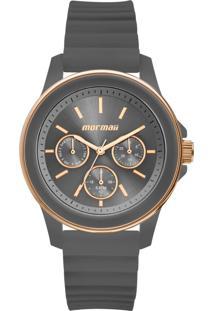 Relógio Mormaii Mo6P29Aj/8C 41Mm Silicone Cinza