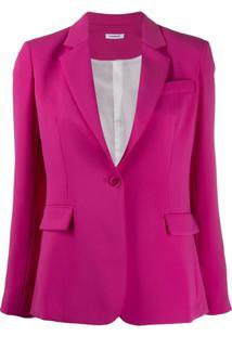 P.A.R.O.S.H. Blazer Slim Com Abotoamento Simples - Rosa