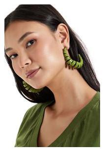 Brinco Espiral Verde Prana