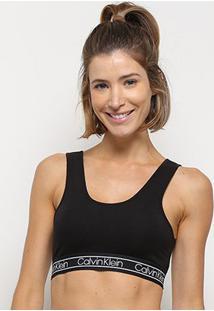 Sutiã Calvin Klein Top Cotton Flx - Feminino-Preto