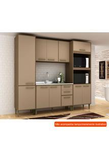Cozinha Compacta Vitória 10 Pt 3 Gv Capuccino E Avelã