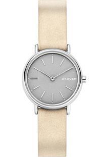 Relógio Skagen Ladies Signatur Bege - Skw2696/0Tn