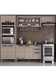 Cozinha Compacta Sem Balcão 3 Peças Com Paneleiro Para 2 Fornos Itatiaia Coimbra Bege