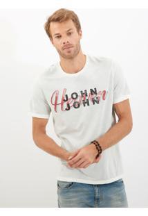 Camiseta John John Rg Heaven Aquarela Malha Bege Masculina (Bege Claro, M)