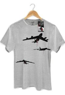 Camiseta Bandup! Roger Waters Bombas - Masculino-Mescla