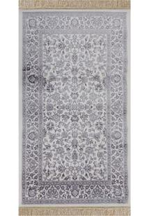 Tapete Belga Stillo Floral- Off White & Cinza- 200X1Niazitex