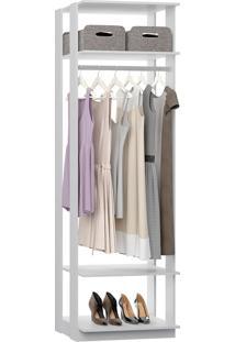 Estante Cabideiro Para Roupas Longas Clothes – Be Mobiliário - Branco
