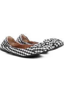 Sapatilha Shoestock Vichy Feminina - Feminino-Preto