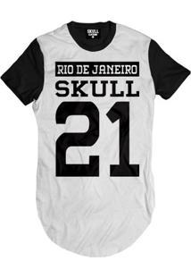 Camiseta Skull Clothing Longline Skull Clothing Rj Maculina - Masculino