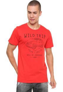 Camiseta Sommer Wild Trip Vermelha