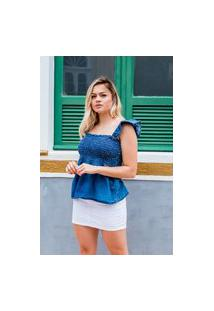Blusa Jeans Feminina Arauto Modelagem Tradicional