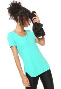 Camiseta Alto Giro Alongada Verde