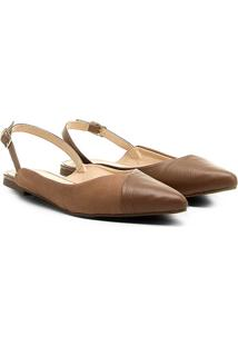 Sapatilha Couro Shoestock Mix Materiais Feminina - Feminino