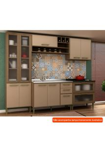 Cozinha Compacta Vitória Ii 9 Pt 5 Gv Capuccino E Avelã