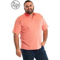 Camisa Pólo Plus Size Rosa masculina  915368fe19052