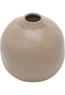 Vaso Decorativo De Cerâmica Areia