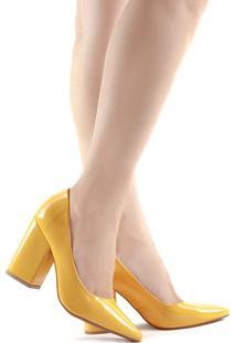 Scarpin Camminare Jéssica 885-13039 Verniz Amarelo
