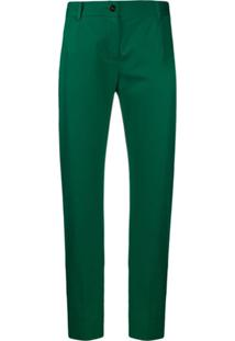 Dolce & Gabbana Cropped Chino Trousers - Verde