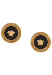 Versace Medusa Head Earrings - Dourado