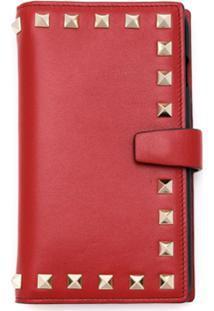 Valentino Clutch Case Para Iphone 7/8 Plus De Couro - Vermelho