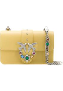 Pinko Love Shoulder Bag - Amarelo