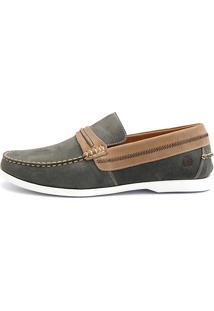 Docksider Casual Moderno Shoes Grand Confortável Musgo