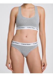 Top Nadador Básico Cinza Mescla Underwear Calvin Klein - L