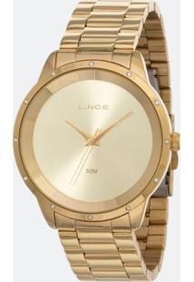 Kit Relógio Feminino Lince Lrg619L-Ki06C1Kx Analógico 5Atm + Conjunto Semijóia