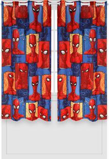 Cortina Lepper Spider Vermelha - Vermelho - Menino - Dafiti